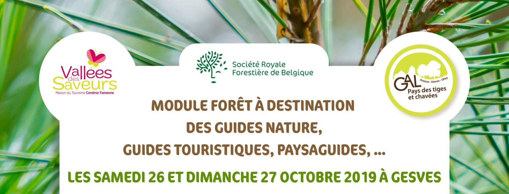 Module Forêt à destination des guides nature, guides touristiques, paysaguides...